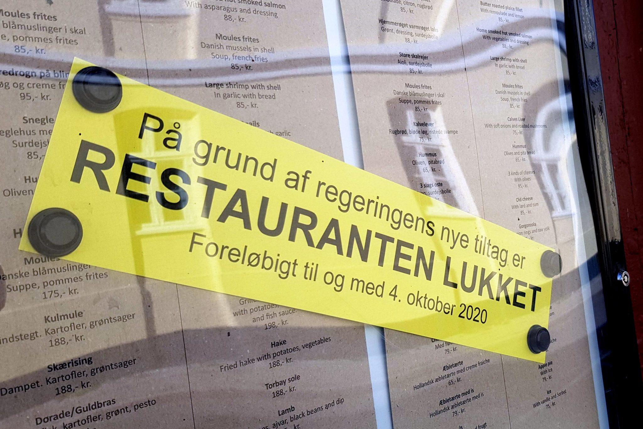 Restauranten er lukket indtil videre – OPDATERET